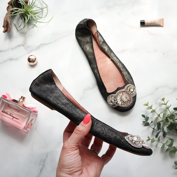 Anthropologie Shoes - Jasper & Jeera Anthropologie leather flats crystal